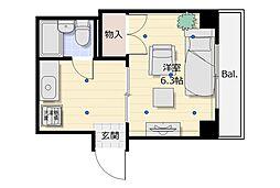 中崎町ハイツ[3階]の間取り