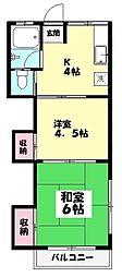 冨士荘[106号室]の間取り