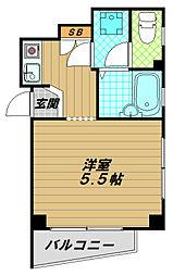 ニシオカマンション[2階]の間取り