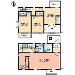 [テラスハウス] 神奈川県川崎市麻生区はるひ野4丁目 の賃貸【/】の間取り