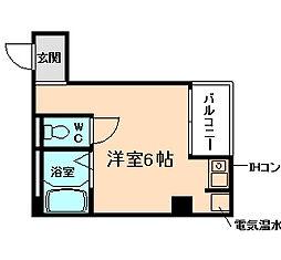 レジデンスイン梅田[3階]の間取り