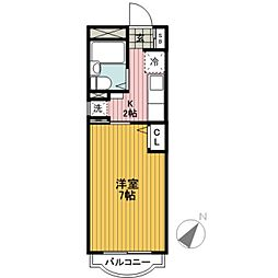 ファーストハイツ横浜[305号室]の間取り