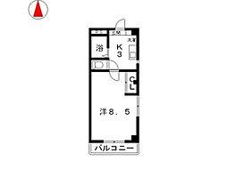 ステーションパレス II[301号室]の間取り