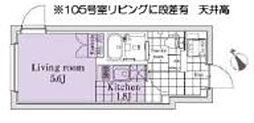 EXAM桜新町 1階1Kの間取り