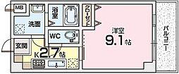 マーブルコート[6階]の間取り