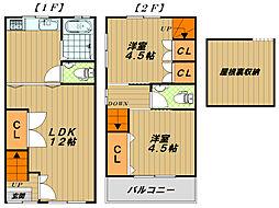 [一戸建] 兵庫県神戸市長田区苅藻通6丁目 の賃貸【/】の間取り
