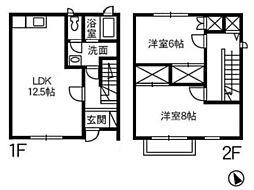 [タウンハウス] 岡山県倉敷市沖 の賃貸【/】の間取り