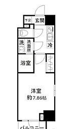 東京メトロ日比谷線 仲御徒町駅 徒歩4分の賃貸マンション 8階1Kの間取り
