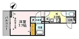 埼玉高速鉄道 浦和美園駅 徒歩9分の賃貸アパート 3階1Kの間取り