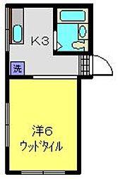 神奈川県横浜市南区榎町2丁目の賃貸アパートの間取り
