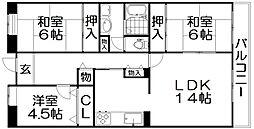 ビオルネ南館[8階]の間取り