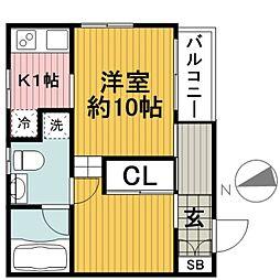 GM NAMAMUGI[1B号室]の間取り