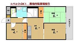 グランディア・ミ・アモーレ鈴蘭台[4階]の間取り