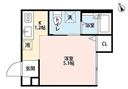 ブリオ新松戸[2階]の間取り