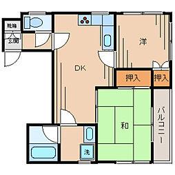 カーサ西村[3階]の間取り