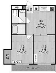 ル・プランタン[2階]の間取り