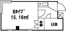 グランハイツ1[203号室]の間取り