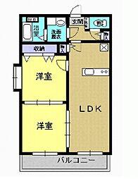 クレールコート II[1階]の間取り