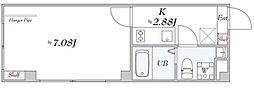 PONANT東長崎 4階1Kの間取り