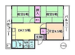ときわマンション[4階]の間取り