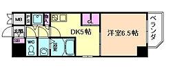 プレサンス江戸堀[4階]の間取り