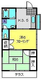 中條アパート[1階]の間取り