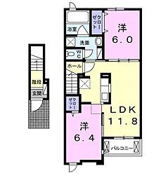 ラ・シェル[2階]の間取り