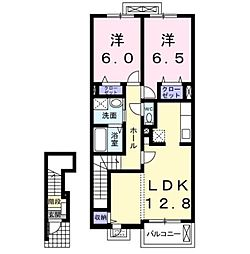 ミキハウス II A[2階]の間取り