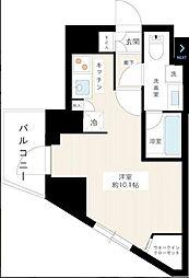 京王線 桜上水駅 徒歩7分の賃貸マンション 2階1Kの間取り