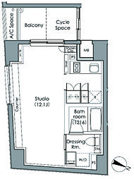 パークハビオ駒沢大学[6階]の間取り