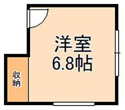 大阪モノレール彩都線 豊川駅 徒歩15分の賃貸アパート 2階ワンルームの間取り