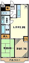 グレースマンション栄 4階2LDKの間取り