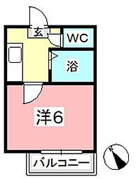 倉本コーポ[202号室]の間取り