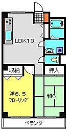 神奈川県横浜市港南区港南台8丁目の賃貸マンションの間取り