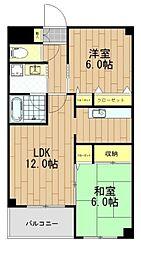 HANAMIZUKI八広 3階2LDKの間取り