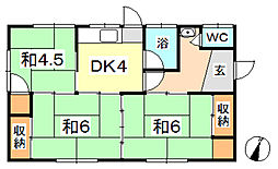 [一戸建] 岡山県倉敷市神田4丁目 の賃貸【/】の間取り