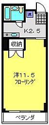 ウッディBOX[D2号室]の間取り