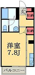 千葉県市原市辰巳台西4丁目の賃貸アパートの間取り
