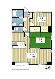 メゾンドピエール中川[305号室]の間取り