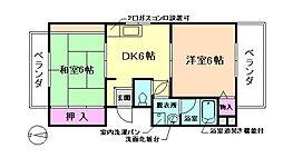 大阪府豊中市螢池中町4丁目の賃貸マンションの間取り