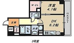 メゾン材木町[5階]の間取り