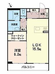 仮称)べレオ八幡 3階1LDKの間取り