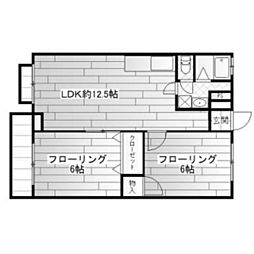 神奈川県川崎市多摩区長尾5丁目の賃貸マンションの間取り