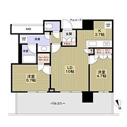 プラウドタワー堺東号室8階Fの間取り画像