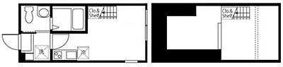 間取り,ワンルーム,面積16.56m2,賃料6.8万円,相鉄本線 西横浜駅 徒歩8分,京急本線 戸部駅 徒歩12分,神奈川県横浜市西区西戸部町3丁目306-13