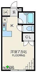 東京都杉並区宮前4丁目の賃貸アパートの間取り