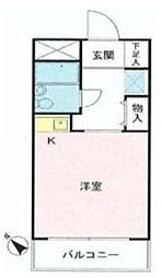 スカイコート鶴見第6[2階]の間取り