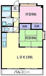 メゾンクローバー[3階]の間取り