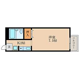 滋賀県湖南市若竹町の賃貸アパートの間取り