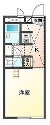 レオパレス一ノ坪[1階]の間取り